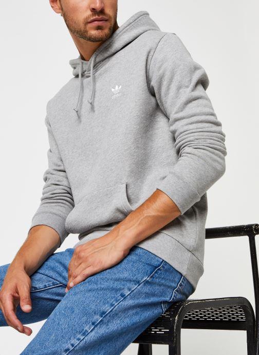 Vêtements adidas originals Essential Hoody Gris vue détail/paire