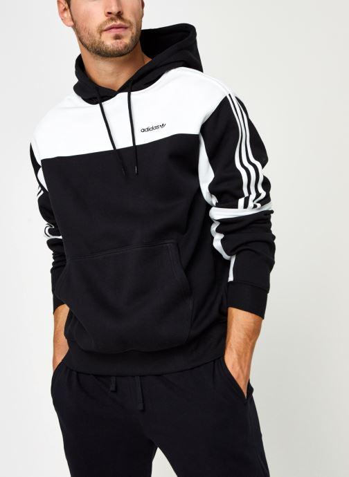 Vêtements adidas originals Classics Hoody Noir vue détail/paire