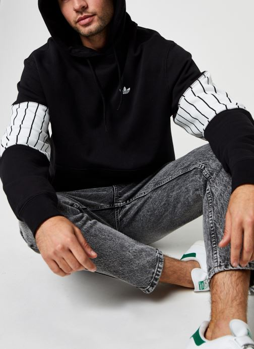 Vêtements adidas originals Summer Bb Hoody Noir vue détail/paire