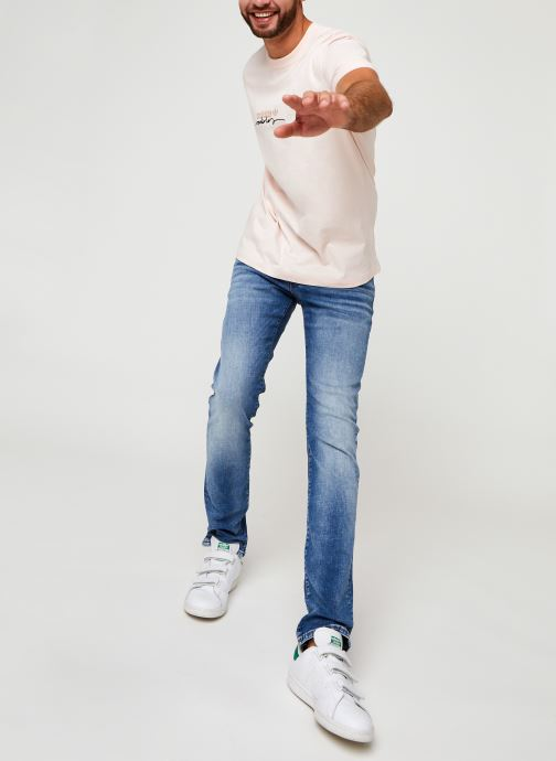 Vêtements adidas originals D Tee Rose vue bas / vue portée sac