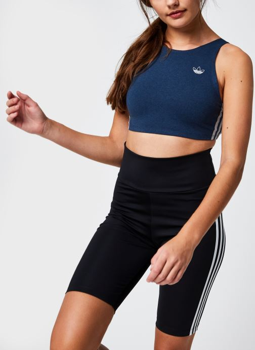 Vêtements adidas originals Bra Top Bleu vue détail/paire