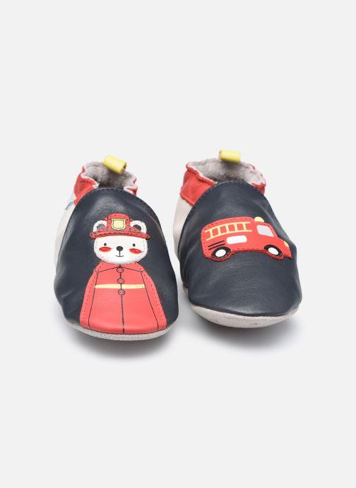 Chaussons Robeez Fireman Bleu vue portées chaussures