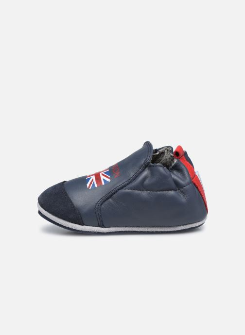 Pantofole Robeez London Flag Azzurro immagine frontale
