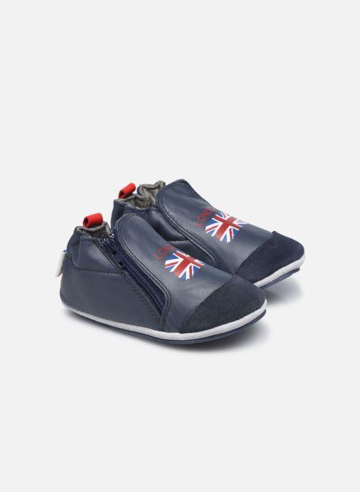 Chaussons Robeez London Flag Bleu vue détail/paire