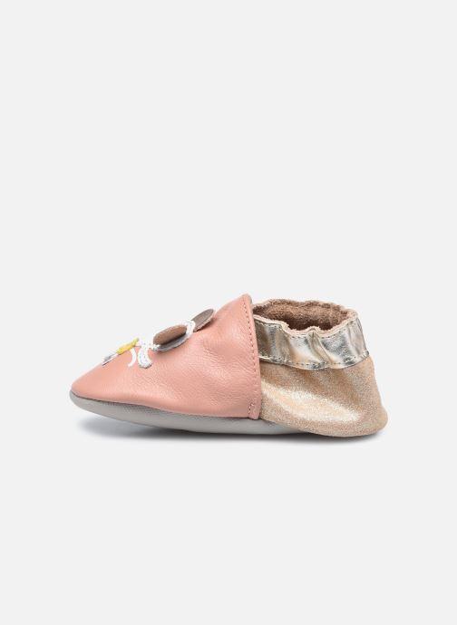 Pantuflas Robeez Ballet Mouse Rosa vista de frente