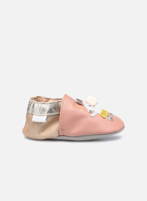 Pantuflas Robeez Ballet Mouse Rosa vistra trasera