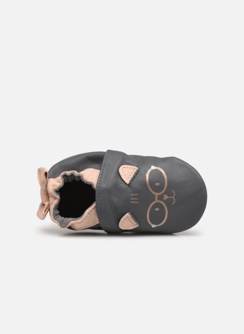Pantofole Robeez Nerd Cat Grigio immagine sinistra