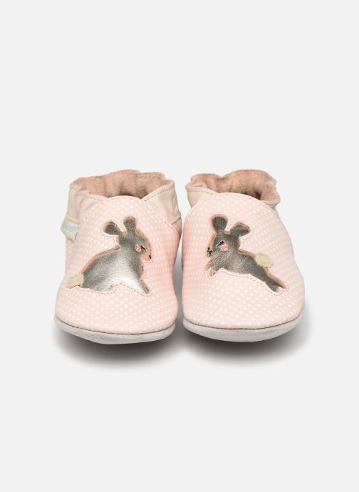Chaussons Robeez Rabbit Baby Rose vue portées chaussures
