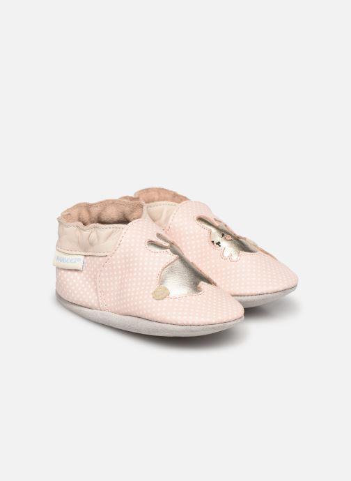 Chaussons Robeez Rabbit Baby Rose vue détail/paire
