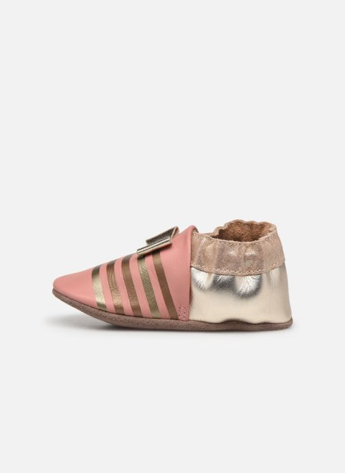 Pantofole Robeez Shiny Bow Tie Rosa immagine frontale