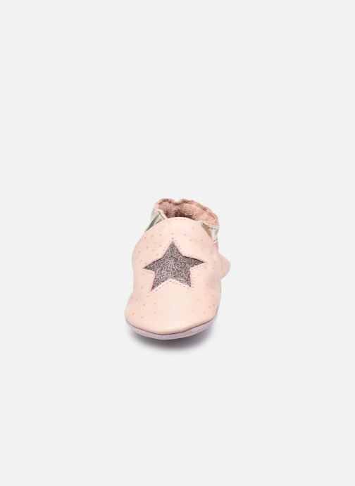 Chaussons Robeez Fire Star Rose vue portées chaussures