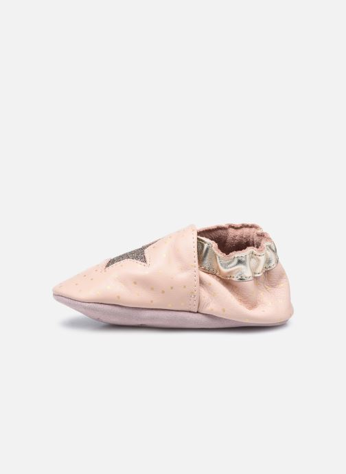 Chaussons Robeez Fire Star Rose vue face