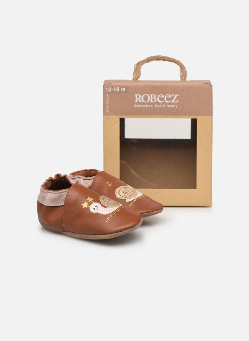 Chaussons Robeez Lovely Snail Rose vue 3/4