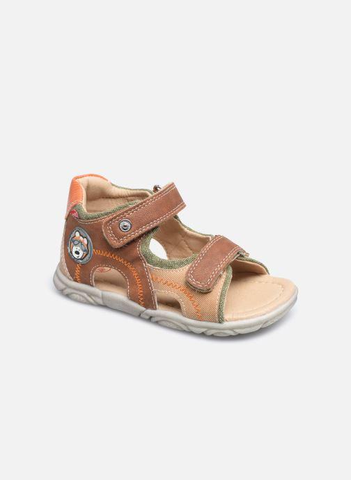 Sandales et nu-pieds NA! Achu Marron vue détail/paire