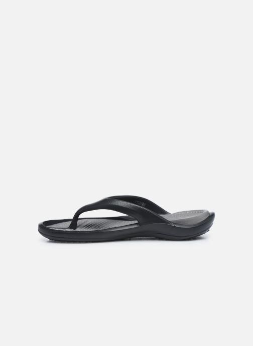 Zehensandalen Crocs Athens M schwarz ansicht von vorne