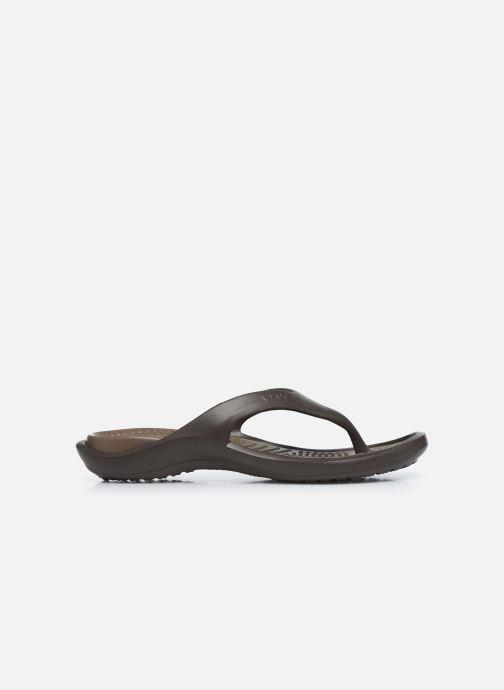 Zehensandalen Crocs Athens M braun ansicht von hinten
