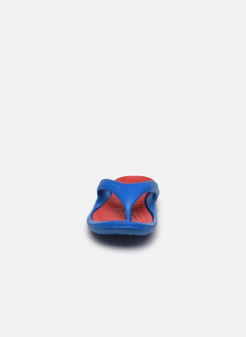 Zehensandalen Crocs Athens M blau schuhe getragen