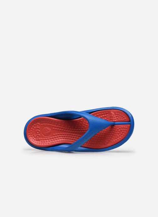 Zehensandalen Crocs Athens M blau ansicht von links