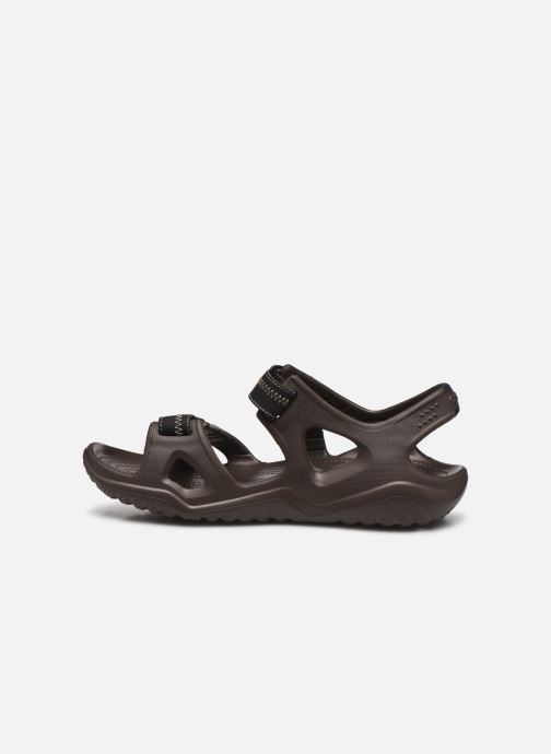 Sandalias Crocs Swiftwater River Sandal M Marrón vista de frente