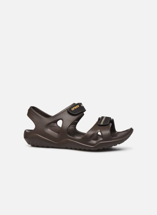 Sandalias Crocs Swiftwater River Sandal M Marrón vistra trasera