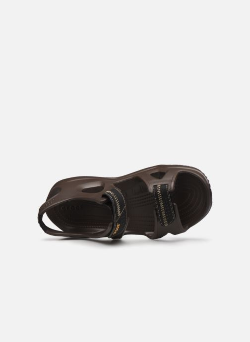 Sandali e scarpe aperte Crocs Swiftwater River Sandal M Marrone immagine sinistra