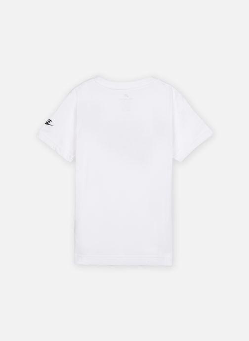 Vêtements Nike Faux Jersey Mesh Futura S/S Tee Blanc vue portées chaussures