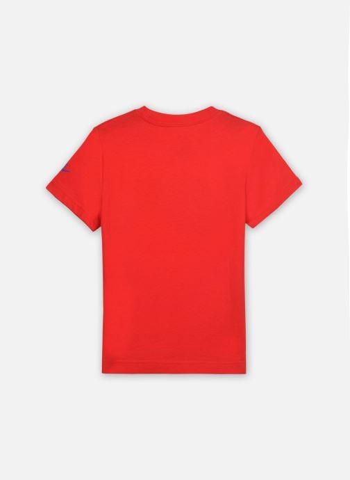 Vêtements Nike Faux Jersey Mesh Futura S/S Tee Rouge vue portées chaussures