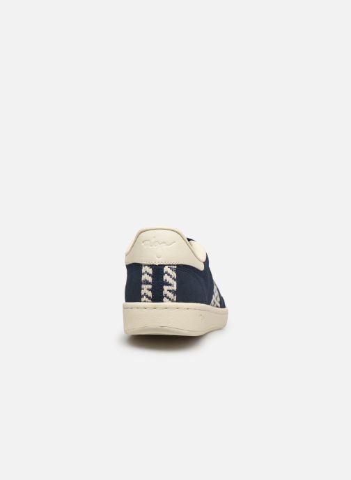 Sneaker N'go Ha Long M blau ansicht von rechts