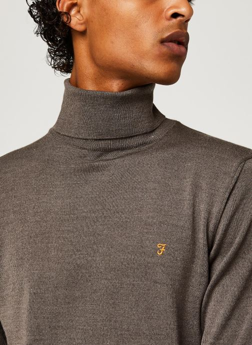 Vêtements Farah Gosforth - Merino Roll Neck Gris vue face