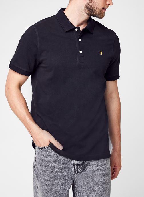 Vêtements Farah Blanes Ss Polo Noir vue détail/paire