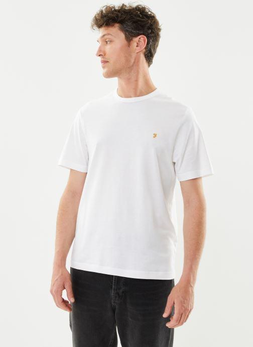 Vêtements Farah Danny SS Tee Blanc vue détail/paire