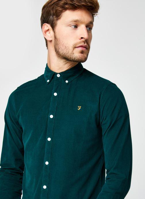 Vêtements Farah Fontella Cord Ls Slm Bd Vert vue face