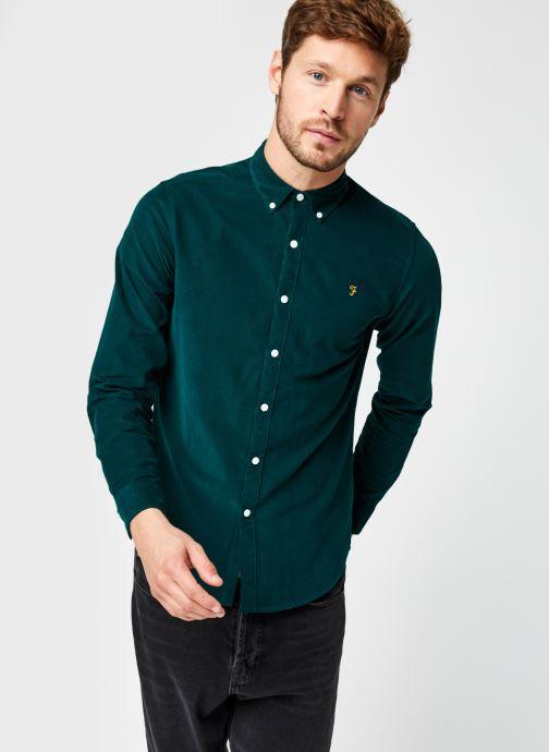Vêtements Farah Fontella Cord Ls Slm Bd Vert vue droite