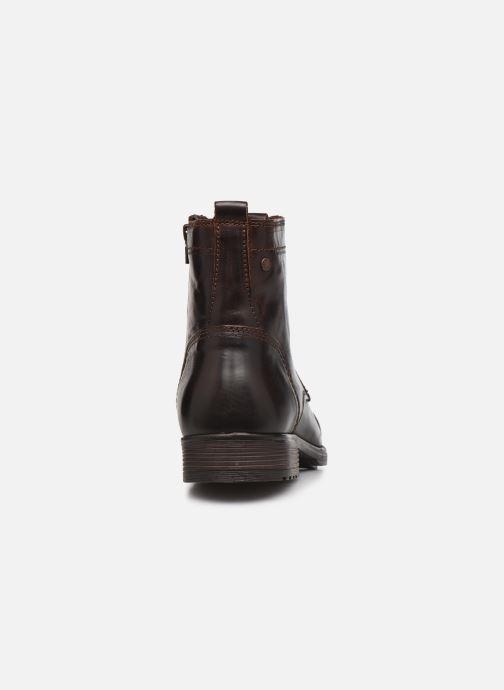 Bottines et boots Jack & Jones Jfw Russel Leather Marron vue droite