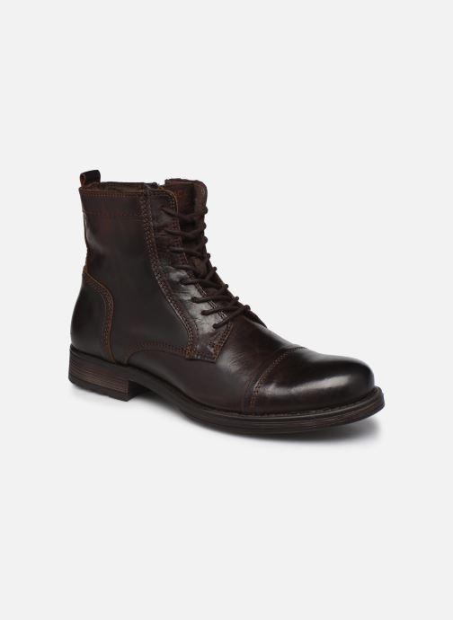 Bottines et boots Jack & Jones Jfw Russel Leather Marron vue détail/paire