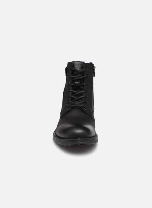 Bottines et boots Jack & Jones Jfw Angus Leather Gris vue portées chaussures