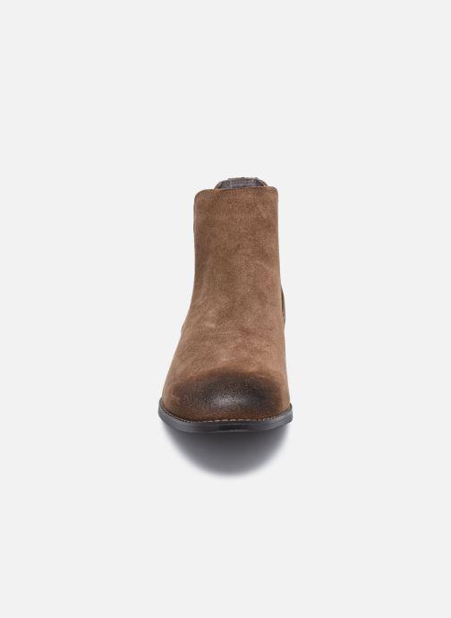 Bottines et boots Jack & Jones Jfw Peter Waxed Suede Marron vue portées chaussures