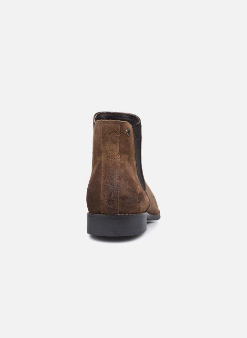 Bottines et boots Jack & Jones Jfw Peter Waxed Suede Marron vue droite