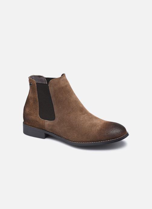 Bottines et boots Jack & Jones Jfw Peter Waxed Suede Marron vue détail/paire