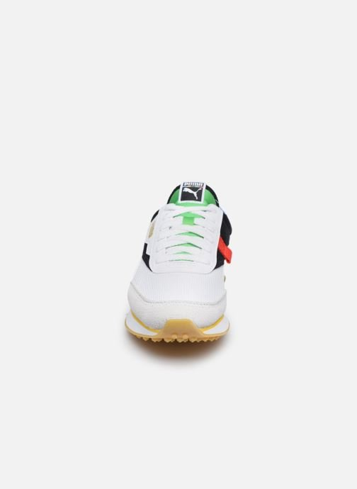 Sneakers Puma F Rider Unity Collection Bianco modello indossato