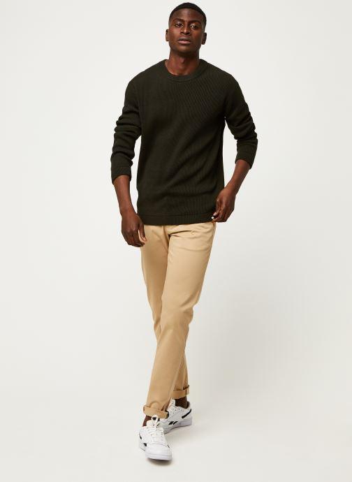Vêtements GANT Slim Twill Chinos Vert vue bas / vue portée sac