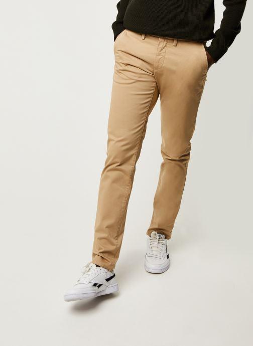 Vêtements GANT Slim Twill Chinos Vert vue détail/paire