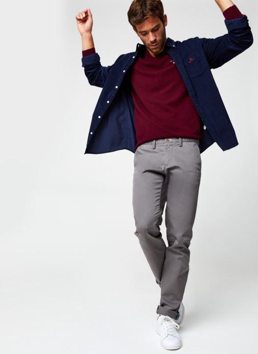 Vêtements GANT Corduroy Reg Bd Bleu vue bas / vue portée sac