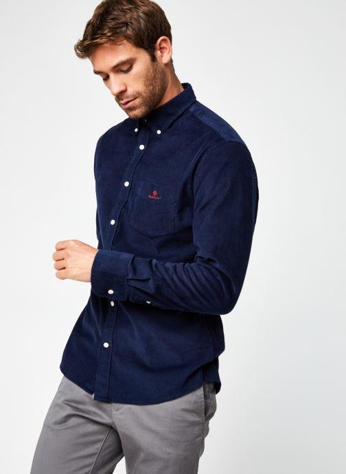 Vêtements GANT Corduroy Reg Bd Bleu vue droite