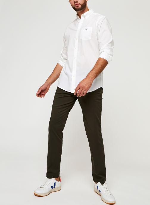 Vêtements GANT Reg Broadcloth Bd Blanc vue bas / vue portée sac