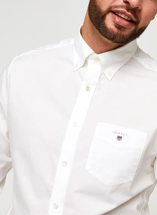 Vêtements GANT Reg Broadcloth Bd Blanc vue face