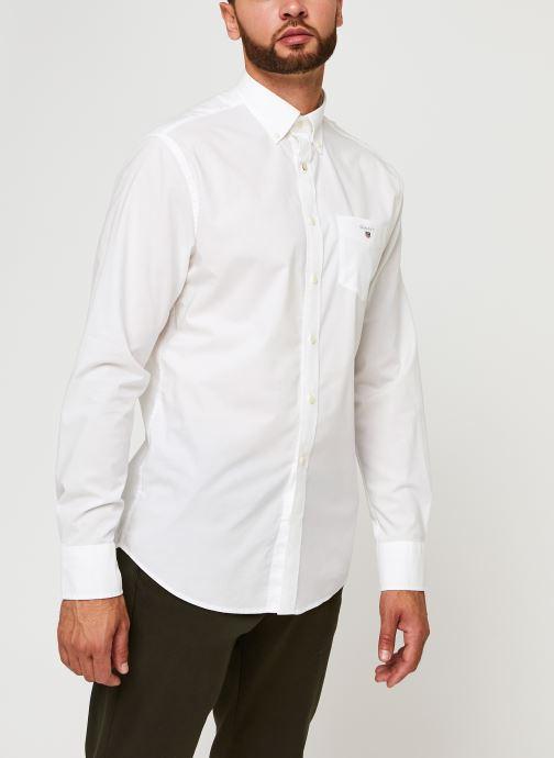 Vêtements GANT Reg Broadcloth Bd Blanc vue droite