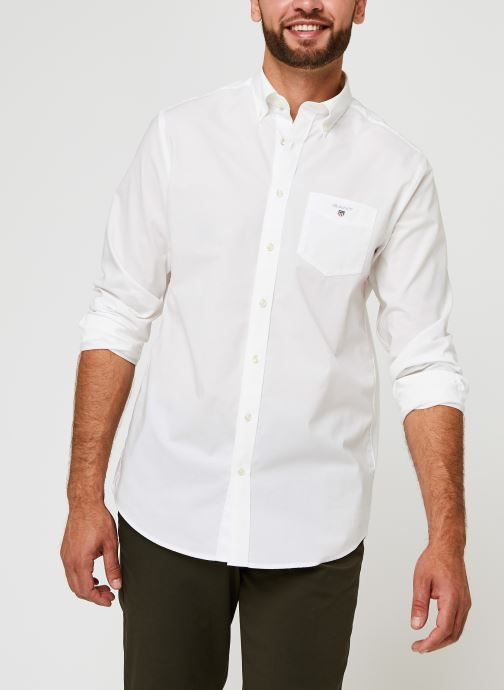 Vêtements GANT Reg Broadcloth Bd Blanc vue détail/paire