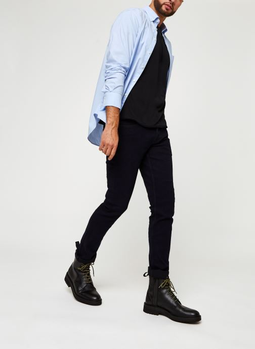 Vêtements GANT Reg Broadcloth Bd Bleu vue bas / vue portée sac