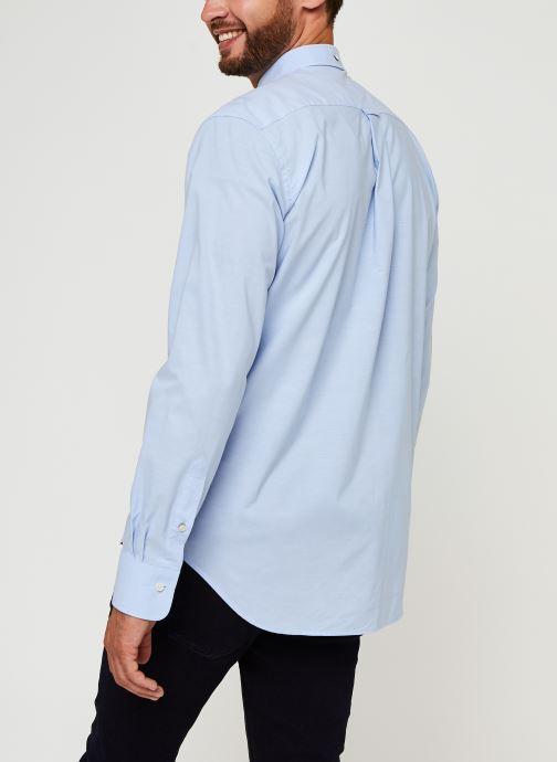 Vêtements GANT Reg Broadcloth Bd Bleu vue portées chaussures